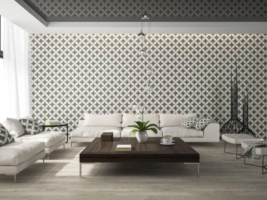 papel tapiz con figuras geometricas